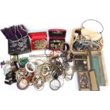 A collection of costume jewellery including Exquisite necklace, other necklaces, earrings, etc