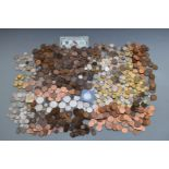 An amateur coin collection of UK and overseas coins, some silver content including pre-1920 and
