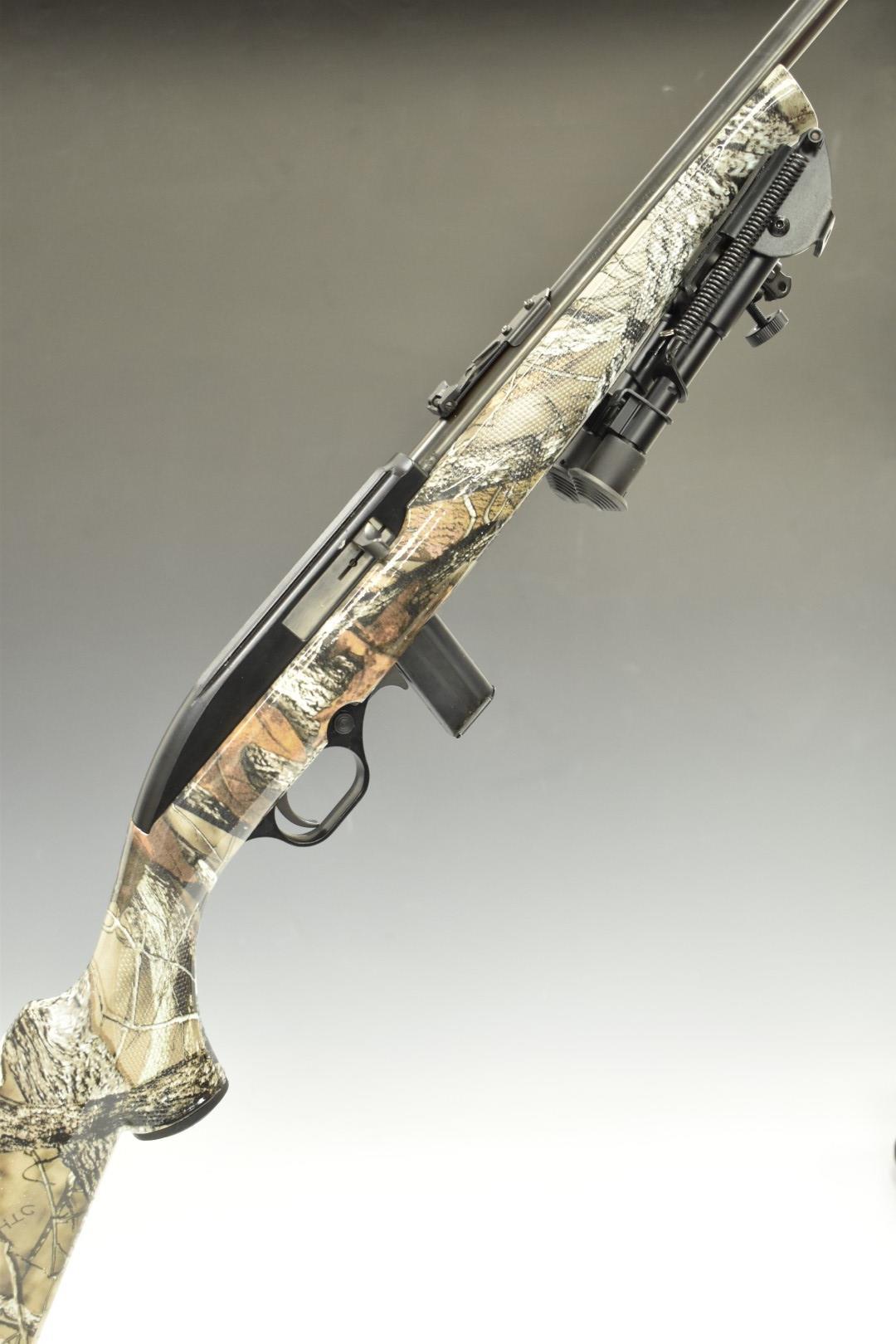CBC Magtech Model 7022 .22 semi-automatic rifle with chequered semi-pistol grip, magazine, bi-pod,