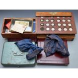 A large collection of UK and overseas coinage to include some modern crowns, replica hammered coins,