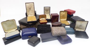 Approximately thirty jewellery boxes including vintage examples