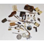 Collectables to include Victorian carved ivory desk thermometer marked P. Salmoni Bath, pair of