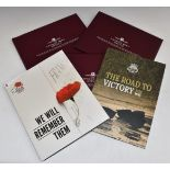 Five London Mint WW2 commemorative coin packs and crowns, in presentation packs with certificates