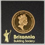 1987 Royal Mint one ounce gold Britannia uncirculated, in Perspex case