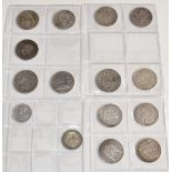 Schulz album of largely 19thC continental silver coinage to include France, Spain, Holland,