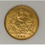 1905Edward VII gold half sovereign
