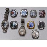 Ten gentleman's wristwatches including Adrem, Orient, Hurcules, Calverta, Chancellor De Luxe etc,
