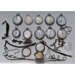 Eleven various pocket watches comprising two full hunters one Girod white metal and unnamed