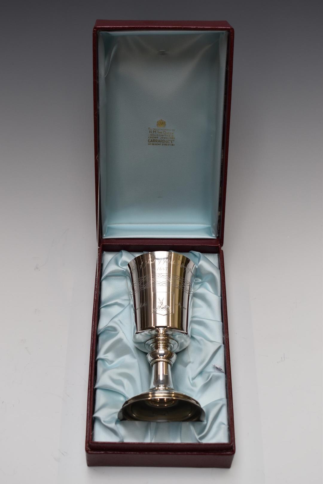 Garrard & Co. Ltd boxed hallmarked silver limited edition (782/1300) commemorative Hertford