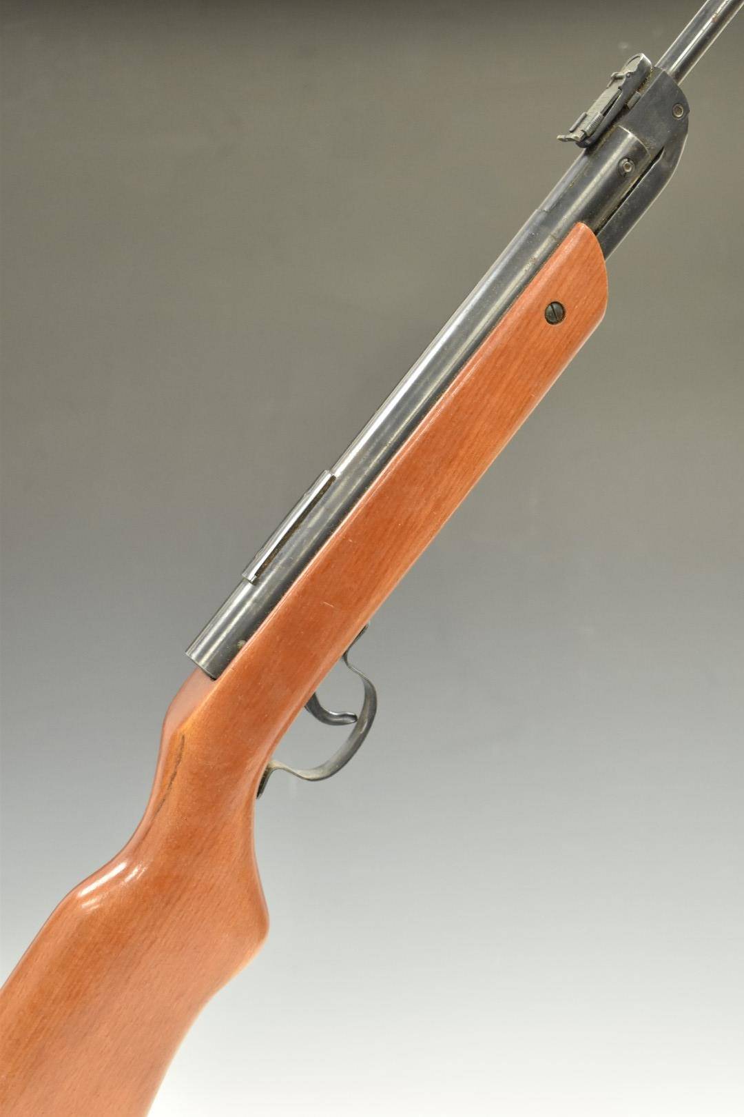 Milbro G23 .177 air rifle with adjustable sights, scope rail and BSA 4x20 scope, NVSN.