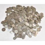 Approximately 3555g of pre-1947 UK silver coinage