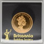 1987Royal Mint one ounce gold Britannia uncirculated, in Perspex case