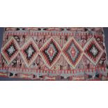 North American kilim / rug, possibly Navajo decorated with a geometric design, 310 x 154cm