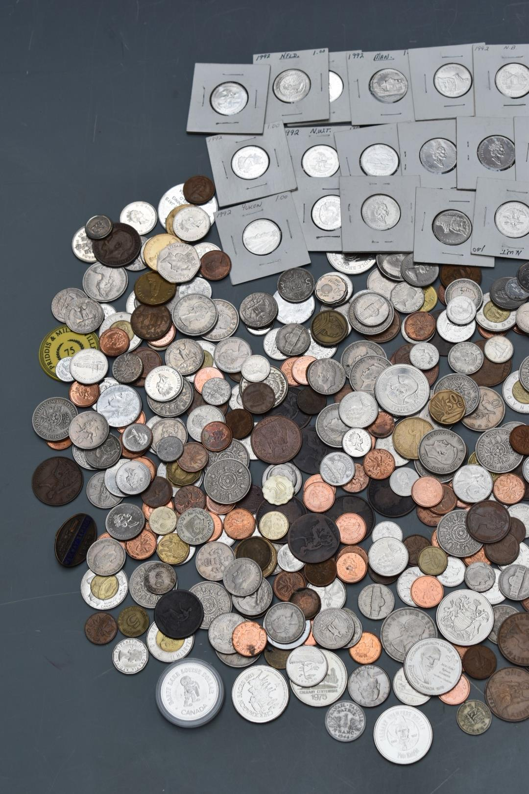 A large collection of mixed coinage, largely UK George III onwards and Canada includes, 'Loonie' war - Image 2 of 3