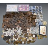 A collection of overseas coinage and medal coins, 19thC onwards, includes Eiffel Tower L'Ascension