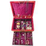 A collection of costume jewellery includingdiamanté necklace, brooches includingfiligree, silver