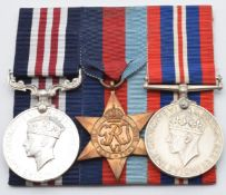 British Army WW2 Dunkirk 1940 Gloucestershire Regiment Military Medal group of three comprising