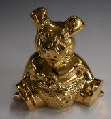 Wade Nat West limited edition (250) gold Woody pig money box, with certificate