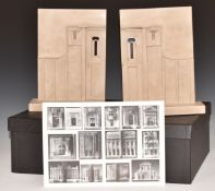 Timothy Richards pair of ceramic architectural bookends of Queen's Cross Church 1888, in box with