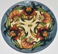 Moorcroft limited edition 230/750 1999 year plate, diameter 22cm