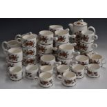 Approximately 34 pieces of Wedgwood tea and coffee services decorated in the Peony pattern