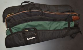Five padded shotgun or rifle slips including Parker-Hale, Remington and Armex Force One.