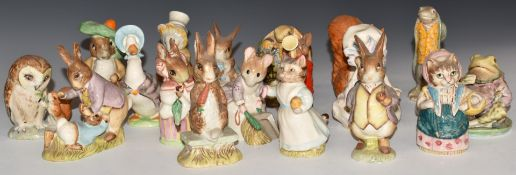NineteenBeswick, Royal Albert andRoyal Doulton figures, including Beatrix Potter Sir Isaac Newton