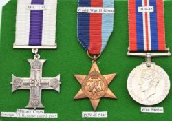 Military Cross Medal George VI dated 1945 together with 1939/1945 Star and Defence Medal