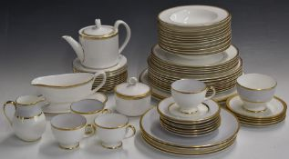 Royal Worcester dinner and tea ware decorated in the Somerset pattern, together with similar
