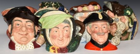 TenlargeRoyal Doulton character jugs including Chelsea Pensioner, John Barleycorn, Walrus and