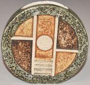 Troika wheel vase with 'Troika' and indistinct monogram to base, H11.5cm