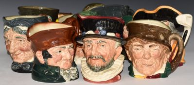 TenlargeRoyal Doulton character jugs including Cavalier, Paddy and Granny