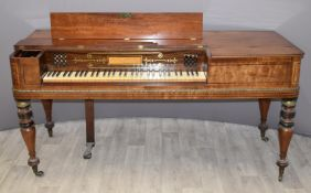 19thC Broadwood Piano to His Majesty, with letter saying Peter Maxwell Davies once played the piano