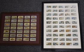 Two framed sets of cigarette cards depicting fish, one Players the other Wills