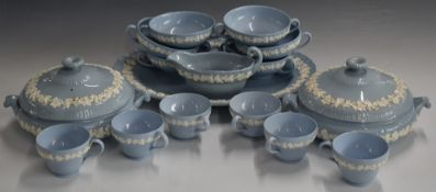 Approximately sixty pieces of Wedgwood Queensware dinner and tea ware, six place settingincluding