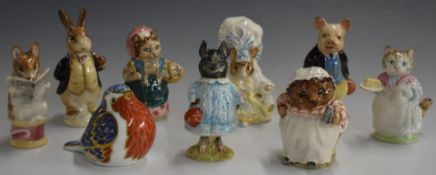 Seven Beswick Beatrix Potter figures including Tailor of Gloucester, Pig-Wig and Mr Benjamin Bunny