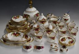 Approximately forty four pieces of Royal Albert Old Country Roses tea and ornamental ware