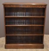 Oak bookcase with adjustable shelving, W86 x D26 x H180cm