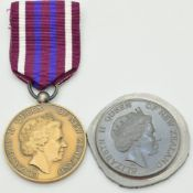 New Zealand Gallantry medal specimen, struck by Thomas Fattorini, effigy obverse by Ian Rank-