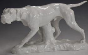 Copenhagen figure of a pointer dog, H18cm
