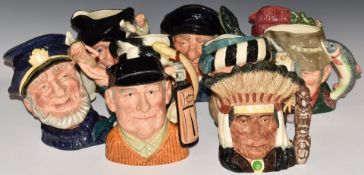 TenlargeRoyal Doulton character jugs including North American Indian, Golfer, Trapper and Tam O'