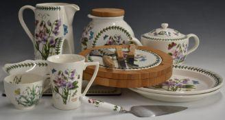 A collection of Portmeirion ceramics, mainly Botanic Garden including boxed bread basket, cake