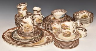 Royal Worcester dinner and tea ware decorated in 'Game Series' pattern