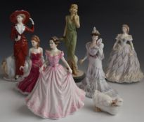 Royal Doulton, Worcester and Coalport figurines including Faye from the Classique series