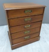 Five drawer collector's / music cabinet, each drawer with drop front W44 x D34 x H53cm