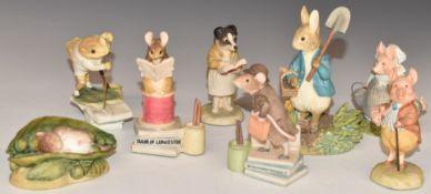 A collection of Border Fine Arts Beatrix Potter figures