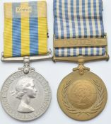British Army Korea Medal 1951 named to 22540538 Signalman J H Sabine Royal Signals together with a