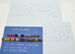 Royal Naval Air Service and Royal Air Force medal ribbon for Air Vice Marshal Eric Bourne Coulter