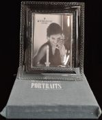 A boxed Waterford Crystal photograph frame with easel back, 27 x 21.5cm
