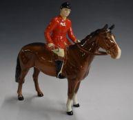 Beswick huntsman on brown horse, H21cm
